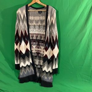 American eagle outfitters S geo open cardigan